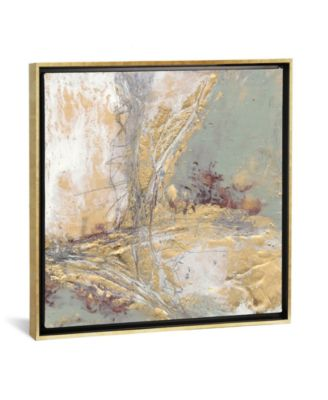 """Gilded Circuit Ii by Jennifer Goldberger Gallery-Wrapped Canvas Print - 18"""" x 18"""" x 0.75"""""""