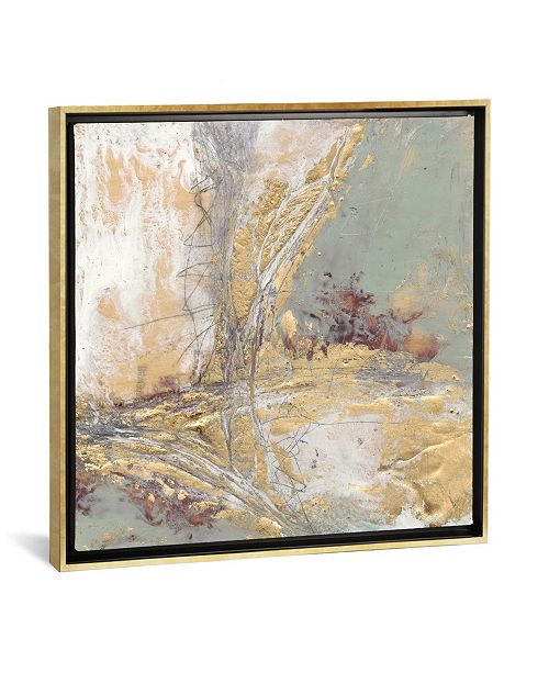 """iCanvas Gilded Circuit Ii by Jennifer Goldberger Gallery-Wrapped Canvas Print - 18"""" x 18"""" x 0.75"""""""