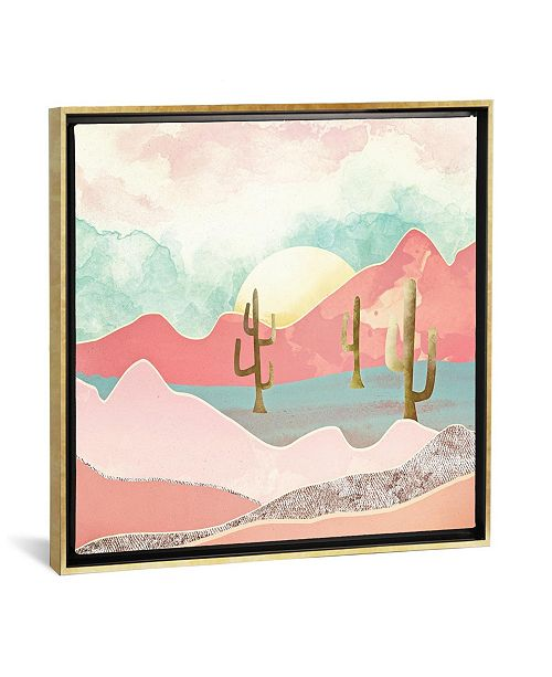 """iCanvas Desert Mountain by Spacefrog Designs Gallery-Wrapped Canvas Print - 26"""" x 26"""" x 0.75"""""""