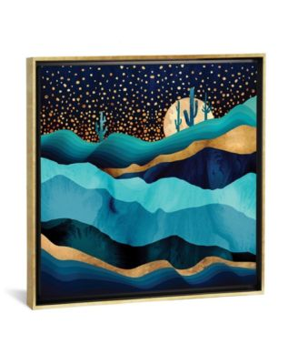 """Indigo Desert Night by Spacefrog Designs Gallery-Wrapped Canvas Print - 37"""" x 37"""" x 0.75"""""""