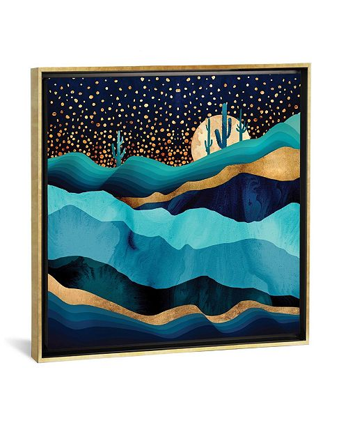 "iCanvas Indigo Desert Night by Spacefrog Designs Gallery-Wrapped Canvas Print - 37"" x 37"" x 0.75"""