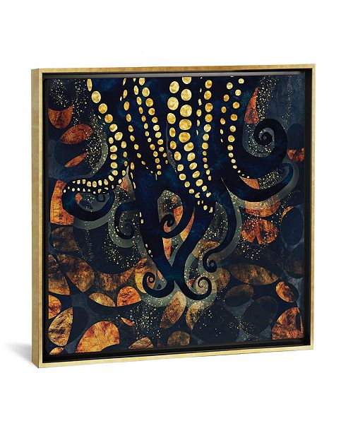 """iCanvas Metallic Ocean I by Spacefrog Designs Gallery-Wrapped Canvas Print - 18"""" x 18"""" x 0.75"""""""