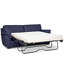 """Lothan 80"""" Leather Full Sleeper, Created for Macy's"""