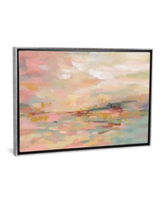 "Pink Waves by Silvia Vassileva Gallery-Wrapped Canvas Print - 26"" x 40"" x 0.75"""