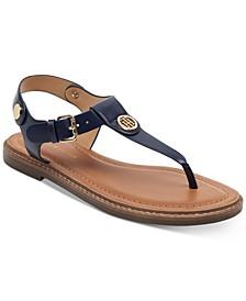 Bennia T-Strap Flat Sandals