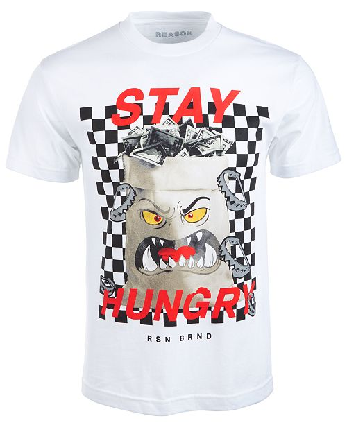 Reason Men's Stay Hungry Graphic T-Shirt