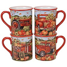 Harvest Bounty Mug, Set of 4