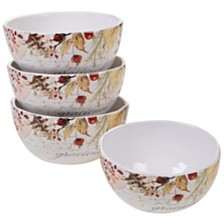 Certified International Harvest Splash Ice Cream Bowl, Set of 4