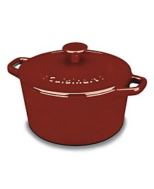 Chefs Classic Enameled Cast Iron 3-Qt. Round Covered Casserole