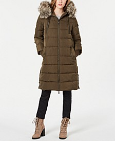 Faux-Fur Hooded Puffer Coat