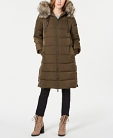 BCBGeneration Faux-Fur Hooded Puffer Coat