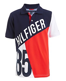 Tommy Hilfiger Big Boys Hilfiger 85 Colorblocked Piqué Polo Shirt