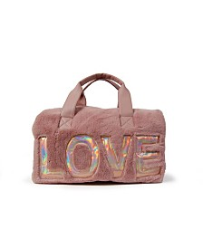 Love Faux Fur Duffle Bag