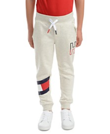 Tommy Hilfiger Little Boys Kent Logo-Print Heather Fleece Sweatpants