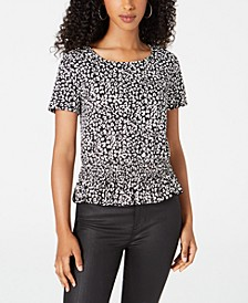 Juniors' Animal-Print Top
