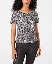 BCX Juniors' Animal-Print Top