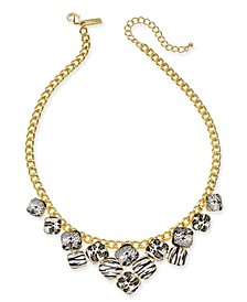 "INC Gold-Tone Square Stone Statement Necklace, 18"" + 3"" extender, Created for Macy's"
