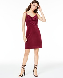 Morgan & Company Juniors' Velvet Sheath Dress