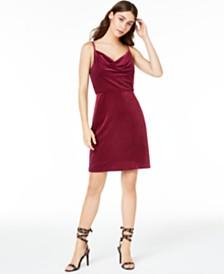 Morgan & Company Juniors' Velvet Sheath Dress
