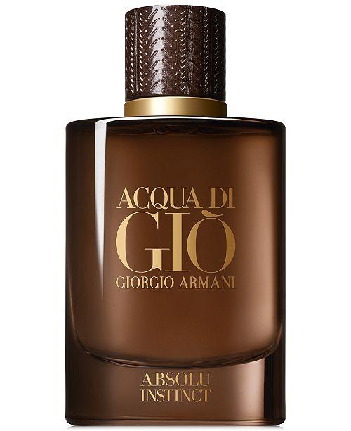 Giorgio Armani Men's Acqua di Giò Absolu Instinct Eau de Parfum Spray, 2.5-oz.