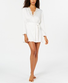 Flora by Flora Nikrooz Stella Lace-Trim Wrap Robe