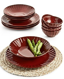 Lucky Brand Paprika 12-Pc. Dinnerware Set, Sevice for 4