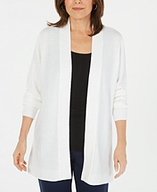 Petite Open-Front Sweater Cardigan, Created for Macy's