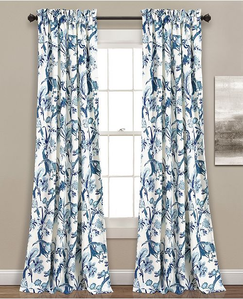 "Lush Decor Dolores 52"" x 95"" Botanical Print Curtain Set"