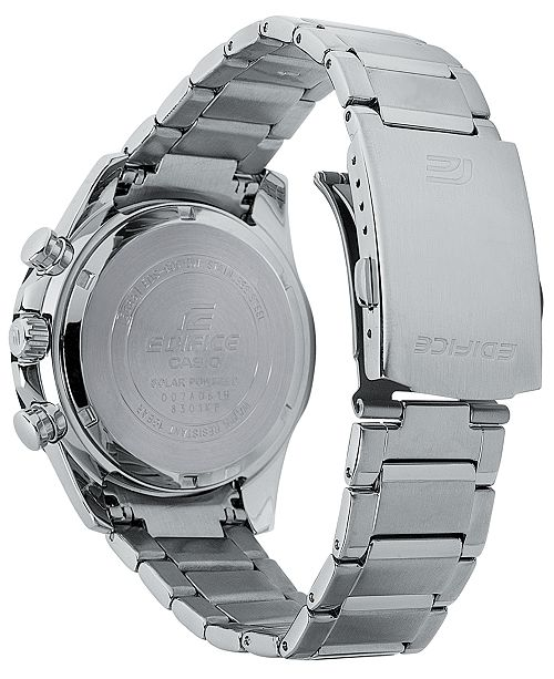 G Shock Men S Solar Chronograph Edifice Stainless Steel Bracelet