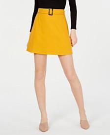 BCX Juniors' Buckled Mini Skirt