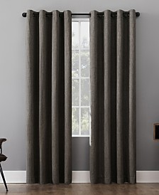 Sun Zero Patina Textured Blackout Curtain Collection
