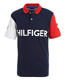 Big Boys Felix Colorblocked Logo-Print Polo Shirt