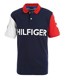 Tommy Hilfiger Big Boys Felix Colorblocked Logo-Print Polo Shirt