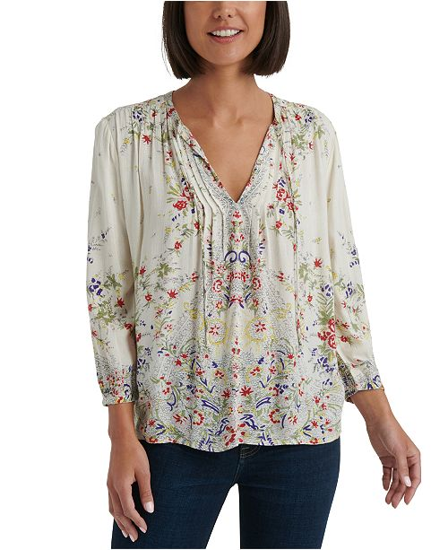 Lucky Brand Julie Pintuck Top