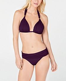 Triangle Halter Bikini Top & Hipster Bottoms