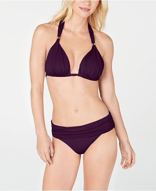 Lauren Ralph Lauren Triangle Halter Bikini Top & Hipster Bottoms