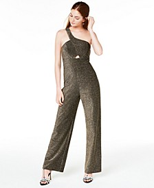 Juniors' One-Shoulder Jumpsuit