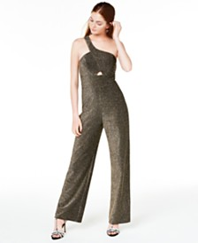 City Studios Juniors' One-Shoulder Jumpsuit