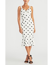 RACHEL Rachel Roy Polka Dot Printed Sheath Dress
