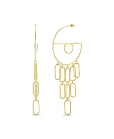 Catherine Malandrino Women's Tiered Bars Hoop Earrings