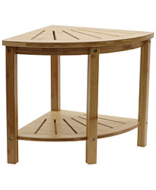 Redmon Bamboo Spa Style Corner Shower Seat