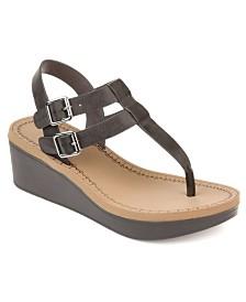 Journee Collection Women's Bianca Wedge Sandals