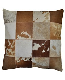 "St. Croix Matador Leather Hide Hair On Pillow, 18"" x 18"""