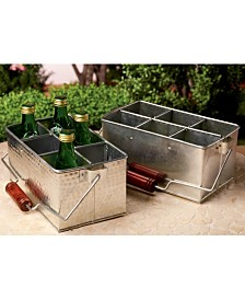 St. Croix KINDWER Set of 2 Galvanized Utensil Holders