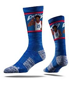 Strideline Joel Embiid Philadelphia 76ers Action Crew Socks