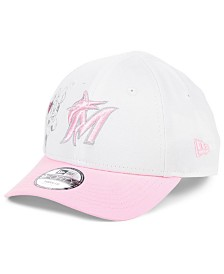 New Era Toddlers & Little Girls Miami Marlins Minnie Heart 9FORTY Adjustable Cap