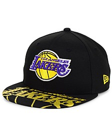 New Era Big Boys Los Angeles Lakers Screen 9FIFTY Adjustable Cap