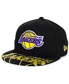 New Era Big Boys Los Angeles Lakers Screen 9FIFTY Adjustable Cap