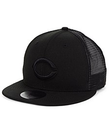 Cincinnati Reds Blackout Meshback 59FIFTY-FITTED Cap