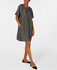 Organic Linen Relaxed Dress, Regular & Petite